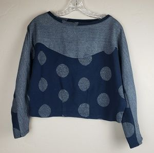 Anthropologie Postmark Blue Top size Small
